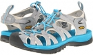 Neutral Gray/Vivid Blue Keen Whisper for Women (Size 5.5)