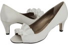 Ivory Satin - Zappos Exclusive Vaneli Madora for Women (Size 4.5)