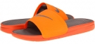 Total Orange/Sport Grey Nike Benassi Solarsoft Slide for Men (Size 8)