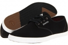 Black/Grey/White Cotton Twill Emerica The Wino for Men (Size 7)