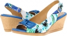 Blue/Green Floral Softspots Lebeau for Women (Size 7)