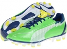Jasmine Green/White/Monaco Blue PUMA evoSPEED 4 FG Wn's for Women (Size 7)
