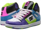 White/Multi DC Rebound High LE W for Women (Size 7)