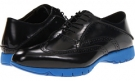 Black Brush Off Leather Hush Puppies FIVE-Brogue for Men (Size 11)