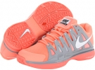 Atomic Pink/Stadium Grey/Geyser Grey/White Nike Zoom Vapor 9 Tour for Women (Size 5)
