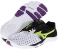White/Lime Punch/Anthracite Mizuno Wave Evo Cursoris for Women (Size 7)