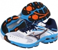 White/Dress Blue/Victory Blue Mizuno Wave Inspire 9 for Men (Size 7)