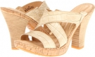 Emden - Crown Collection (Ivory Metallic Croc Print Women's 6