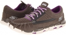 Charcoal/Purple SKECHERS Performance GObionic - Moccasin for Women (Size 5)