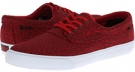 Red Canvas Abstract Lakai Camby for Men (Size 11.5)