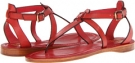 Burnt Red Veg Tan Frye Rachel T Sandal for Women (Size 7)