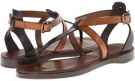 Black Multi Soft Full Grain Frye Rachel T Sandal for Women (Size 7)