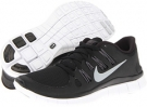 Black/Dark Grey/White/Metallic Silver Nike Free 5.0+ for Women (Size 5.5)