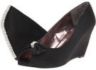 Black Satin Bouquets Sophie for Women (Size 7)