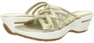 White Gold Metallic Cole Haan Air Ezra Slide for Women (Size 5.5)