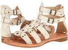 White Cracked Leather Frye Rachel Moto Gladiator for Women (Size 7)