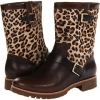 Britt (Dark Brown/Leopard Pony Women's 5