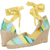 Green Multi/Beach Fabric Nine West Immunity for Women (Size 7)