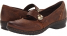 Dark Brown Leather Clarks England Ideo Rake for Women (Size 5.5)