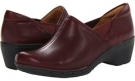 Burgundy Leather Clarks England Un.Lory for Women (Size 5.5)