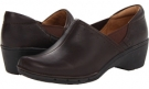 Dark Brown Leather Clarks England Un.Lory for Women (Size 5.5)