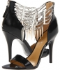Black/Silver Leather Nine West Anastia for Women (Size 7)