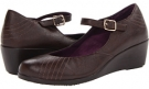 Chocolate VIONIC with Orthaheel Technology Amelia Wedge for Women (Size 7)