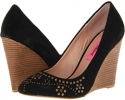 Black Suede Betsey Johnson Arriel for Women (Size 7)