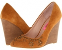 Cognac Suede Betsey Johnson Arriel for Women (Size 7)
