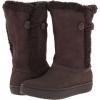 Crocs Modessa Suede Button Boot Size 4