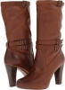 Cognac Soft Vintage Leather Frye Marissa Slouch for Women (Size 9.5)