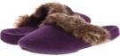 Acorn Cashmere Fur Trim Mule Size 7