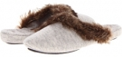 Cashmere Fur Trim Mule Women's 7