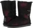 Black/Red Bearpaw Diva for Women (Size 9)