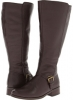 Dark Brown Pebble Calf Fitzwell Myla Wide Calf Boot for Women (Size 5)