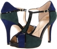 Blue Green Combo Chrome Free Suede/Patent Isola Catalina for Women (Size 7)