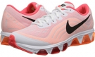 White/Laser Crimson/Total Orange/Black Nike Air Max Tailwind 6 for Women (Size 5.5)