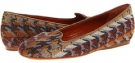 Abstract Flame Stitch Square Throat Slipper Women's 7