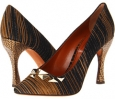 Stripe Pattern Pointed Pump with Studs Women's 7.5