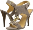 Taupe Nubuck Nine West Bezel for Women (Size 7)