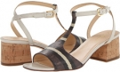 Striped Chestnut Lizard Print Cole Haan Luci Low Sandal for Women (Size 10)