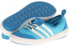 Samba Blue/Chalk/Dark Solar Blue adidas Outdoor Climacool Boat Sleek for Women (Size 5)