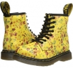 Sun Yellow Little Flowers Dr. Martens Kid's Collection Brooklee 8-Eye Lace Boot for Kids (Size 8)