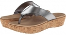 Crocs A-Leigh Flip Flop Metallic Leather Size 4