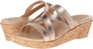A-Leigh Mini Wedge Metallic Leather Women's 4