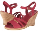 Dark Red Timberland Earthkeepers Maeslin Ankle Strap for Women (Size 11)