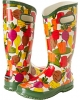 Green Veggie Multi Bogs Rainboot Veggie for Women (Size 7)