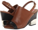 Cognac/Black Leather Isaac Mizrahi New York Bolt for Women (Size 7)