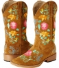 Multi Floral Embroidered Suede Boot Women's 9