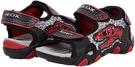 Black/Red Geox Kids Jr Sandal Strike Dinosaur for Kids (Size 9)